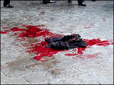 Scene of shooting in Bishkek's main square