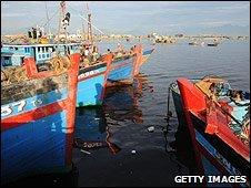 Fishing boat in Da Nang, Vietnam