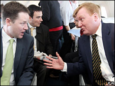 Nick Clegg and Charles Kennedy