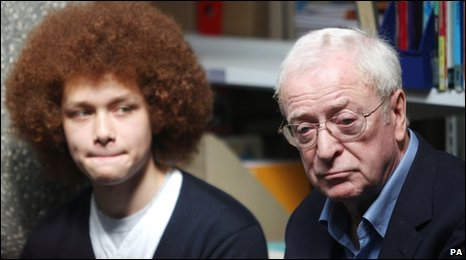 Teenager and Sir Michael Caine