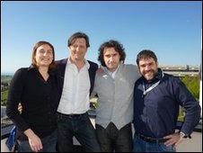 From left: Cristina Gambi, Roberto Danovaro, Antonio Dell'Anno, Antonio Pusceddu