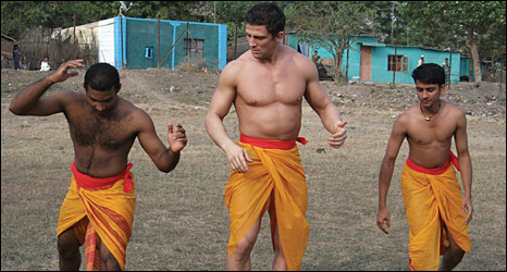 Alex Reid learning some Kalari Kicks in India