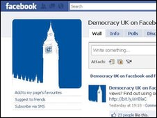 Facebook Democracy UK page