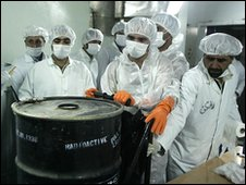 Iranian nuclear technicians at Isfahan, file pic