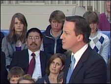 David Cameron in Plymouth