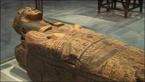 A sarcophagus recently returned to Egypt