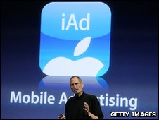 Steve Jobs shows off iAd