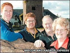 The Jones family from Talgarth, near Brecon (Photo: The Brecon & Radnor Express)