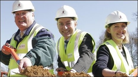 Graham Butland, Mark Oaten and Melanie Chew from EACH at the new Treehouse site in Ipswich