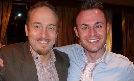 Derren Brown and Richard Harris