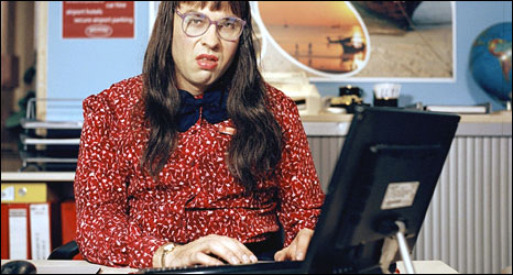 Character from 'Computer Says No' sketch in TV series Little Britain