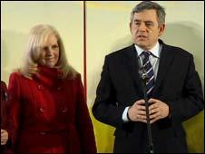 Linda Bowman and Gordon Brown