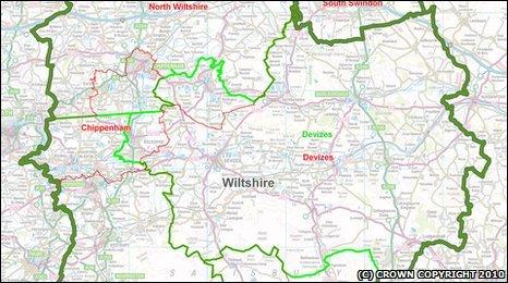 Wiltshire constituency map