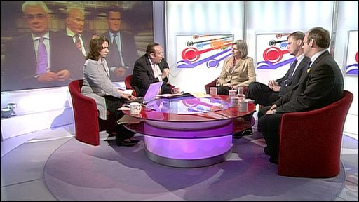 Guests on Daily Politics set