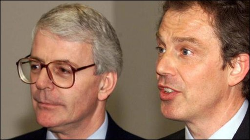 John Major and Tony Blair