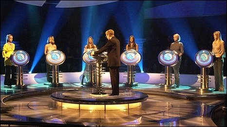 Scene from The Weakest Link quiz show