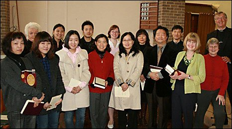 Korean members of the Mint congregation
