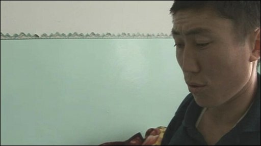A victim of the bloody Kyrgyzstan uprising  in a Bishkek hospital