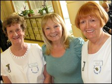 Volunteer Hazel Moore, Fundraiser Barbara Senior and Nancy Lunn