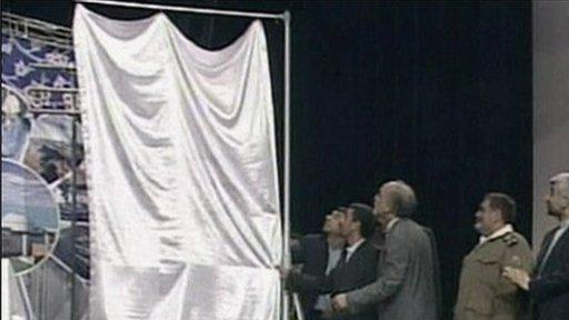 "Iran's president unveils new ""third-generation"" centrifuges"