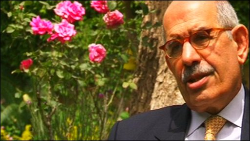 The former head of the International Atomic Energy Agency, Mohammed El Baradei