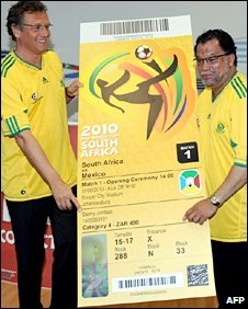 Fifa secretary-general Jerome Valcke and tournament chief Danny Jordaan