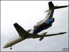 A Tupolev-154 plane
