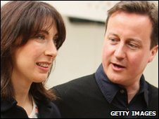 David Cameron with wife Samantha