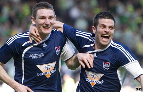 Martin Scott and Steven Craig celebrate