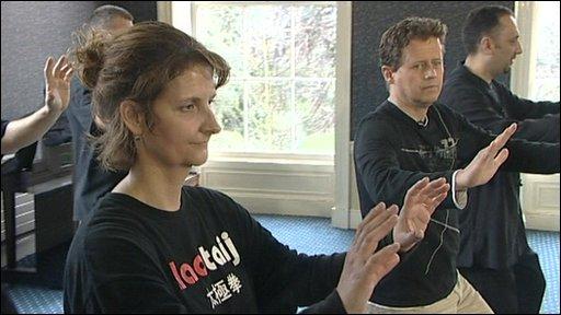 BBC's Alex Bushell tries Tai Chi