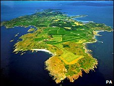 Aerial view of Gigha