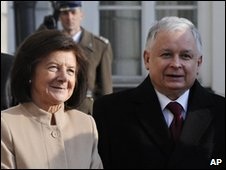 Lech and Maria Kaczynski - 15 March 2010