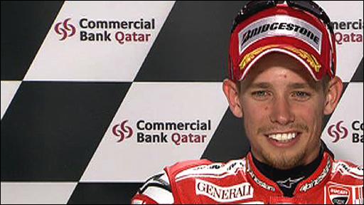 Ducati's Casey Stoner