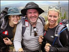 Fearne Cotton, Chris Moyles and Denise van Outen made the summit