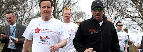 David Cameron and Ian Botham