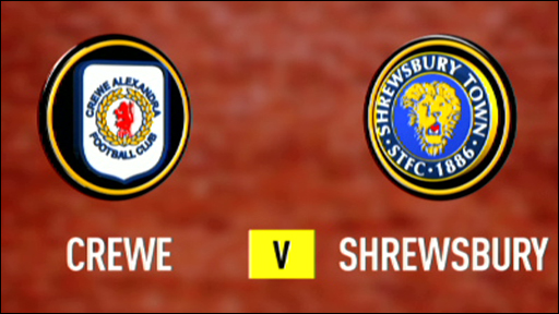 Crewe 0-3 Shrewsbury