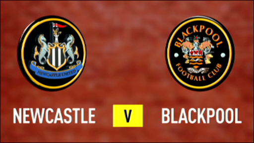 Newcastle v Blackpool