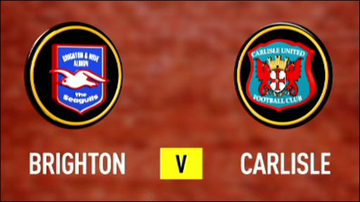 Brighton 1-2 Carlisle
