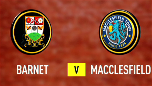 Barnet 1-2 Macclesfield