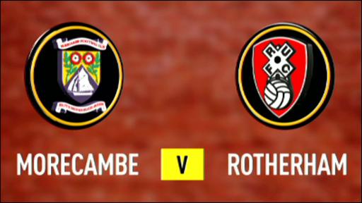 Morecambe 2-0 Rotherham