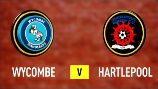 Wycombe 2-0 Hartlepool