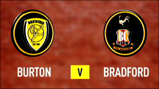 Burton Albion 1 - 1 Bradford