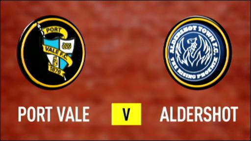 Port Vale 1-1 Aldershot