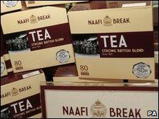 Boxes of Naafi Break tea