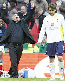 Portsmouth boss Avram Grant celebrates