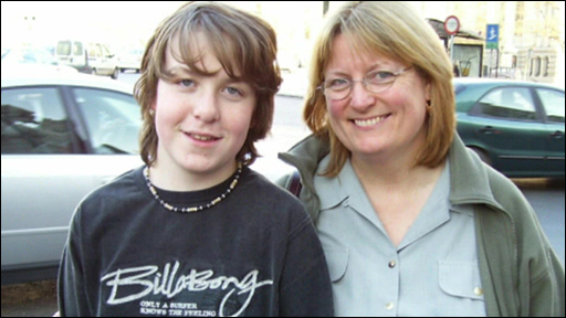 Beth Chesney-Evans and her son