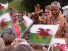 Nelson Mandela in Cardiff