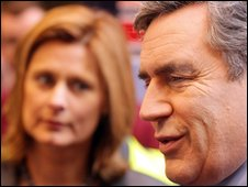 Sarah and Gordon Brown on the campaign trail in Rugby