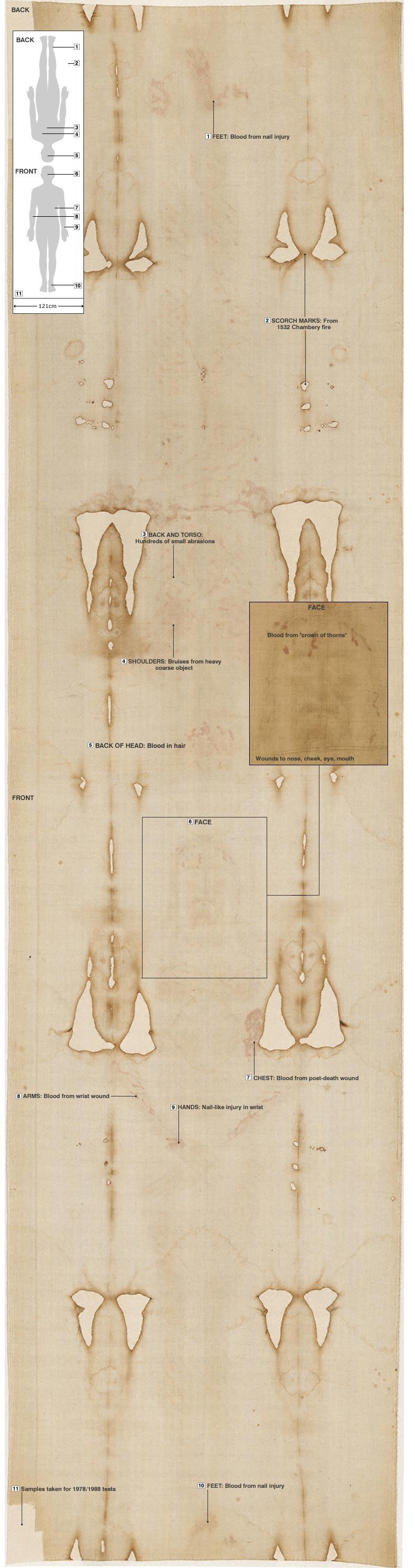 Anotated image of Turn Shroud