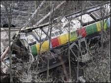 Train crash near Laces